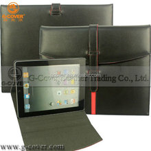 Multi-folding stand pu leather case for mobile phone