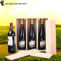 Pan Wine Gift Box,Wine Bottle Packing Box / wine Storage Box Case / wine Wooden Box For Packing