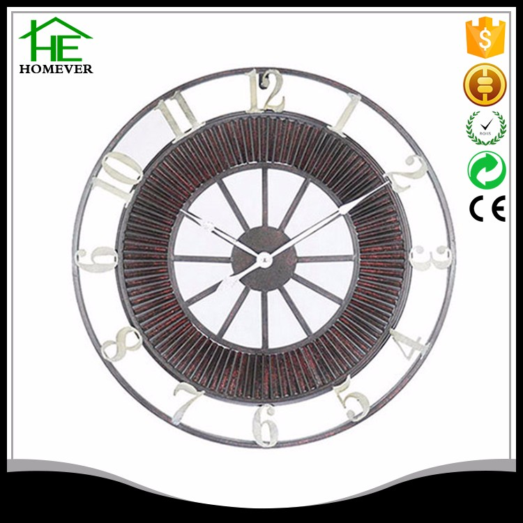 Custom Ce Iron Brown Metal Clock Dial From China