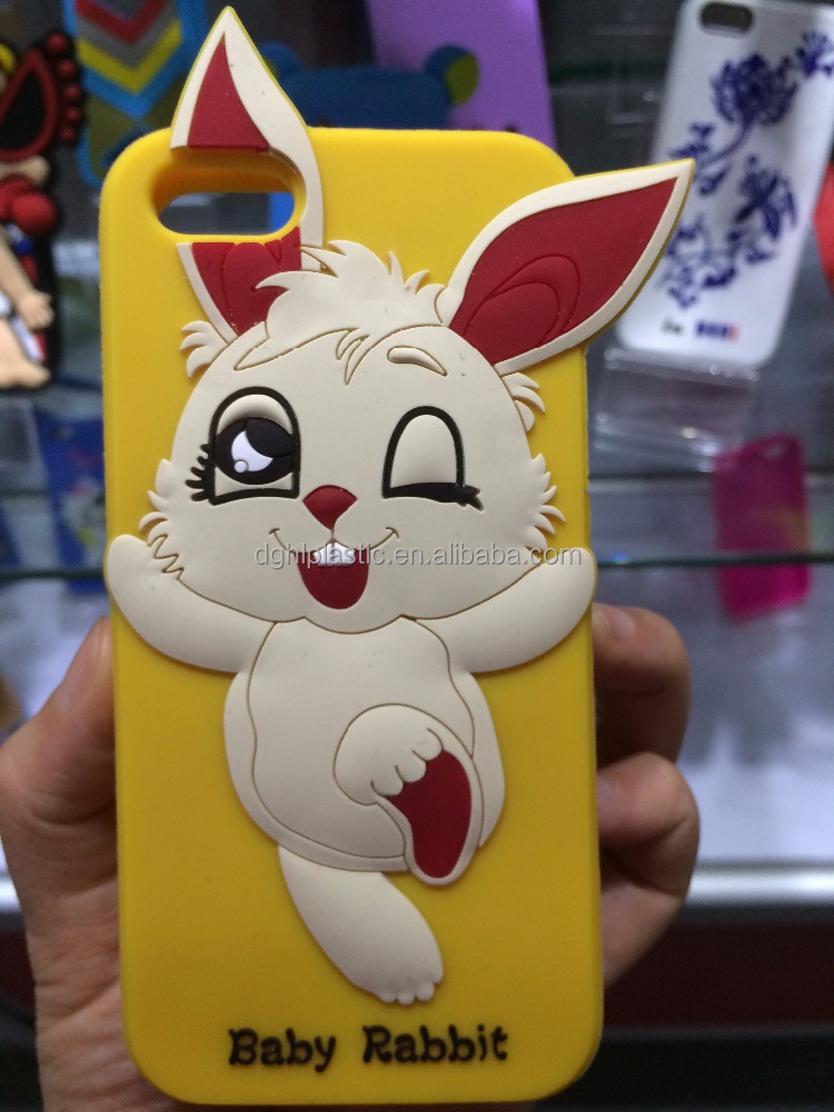 factory custom cute silicone cell phone cover rubber case for mobile phone