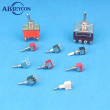 KN3(B)-402/403 4PDT ON-ON/ON-OFF-ON 12 Pin 4 Position Toggle Switch