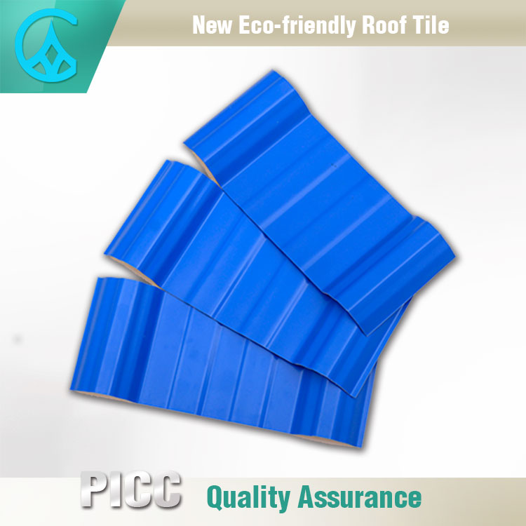Architectural Plastic Japanese Style Corrosion Resistant Roof Tiles