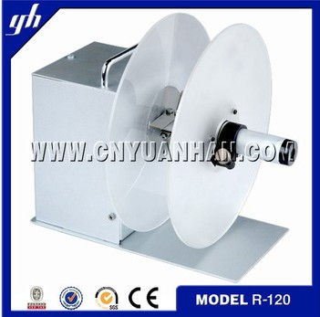 electrical auto label rewinder R120,price label winding machine