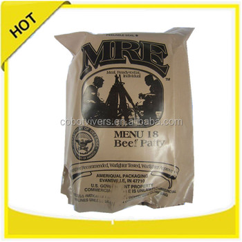 Manufacture Military MRE meal ready to eat