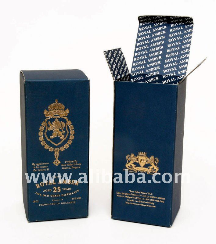 Luxury Brandy Paper Packing Box