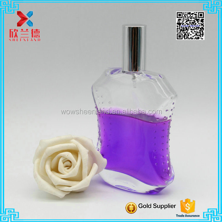 Wholesale 100ML special design spray glass perfume bottle manufacturer for fragrance
