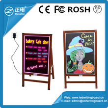 Outdoor 60*80 acrylic wooden high brightness RGB 5050 advertising led glow writing menu sign board