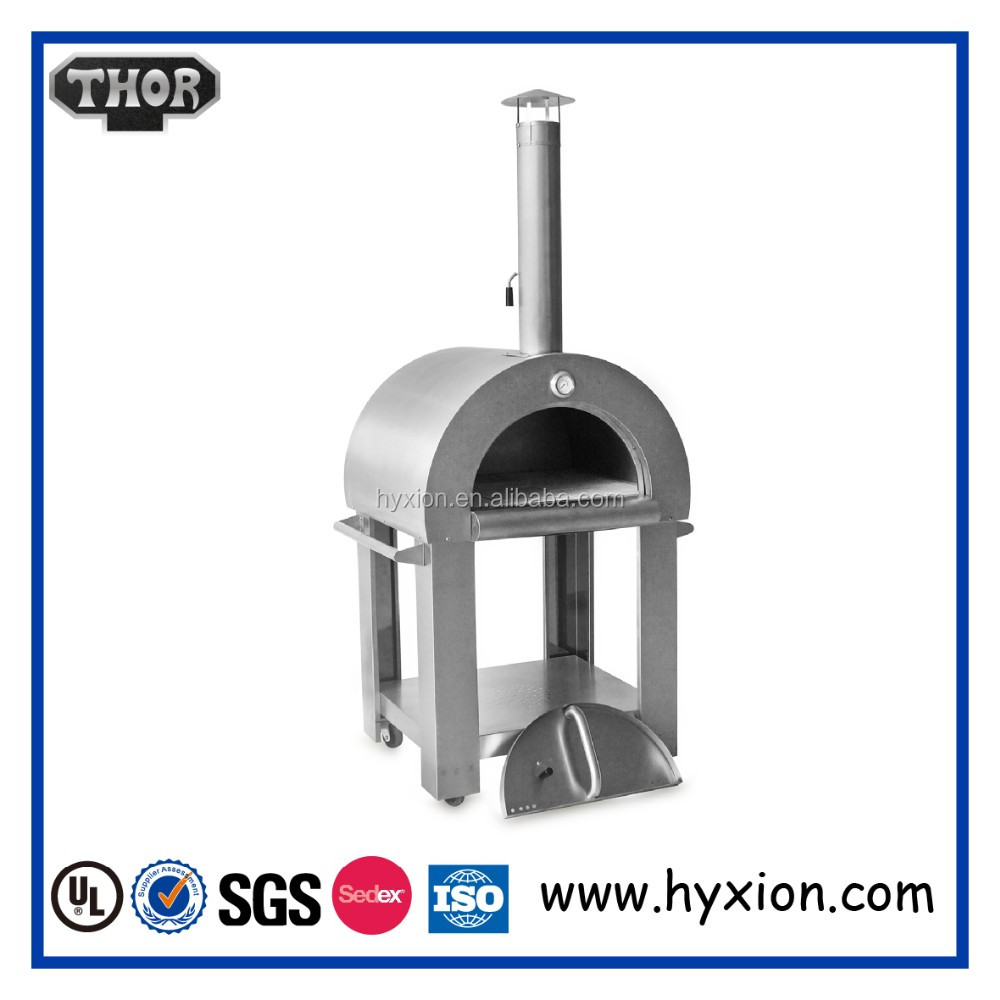 HPO01SS wood fired stainless steel brick oven pizza ovens for sale