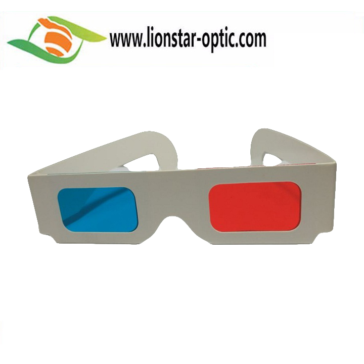 Hot Selling Custom Brand Design red cyan paper 3d glasses