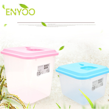 Rice Storage Bin Container, Airtight with and Measuring Cup, Sealed Clear Plastic Food Saver for Rice