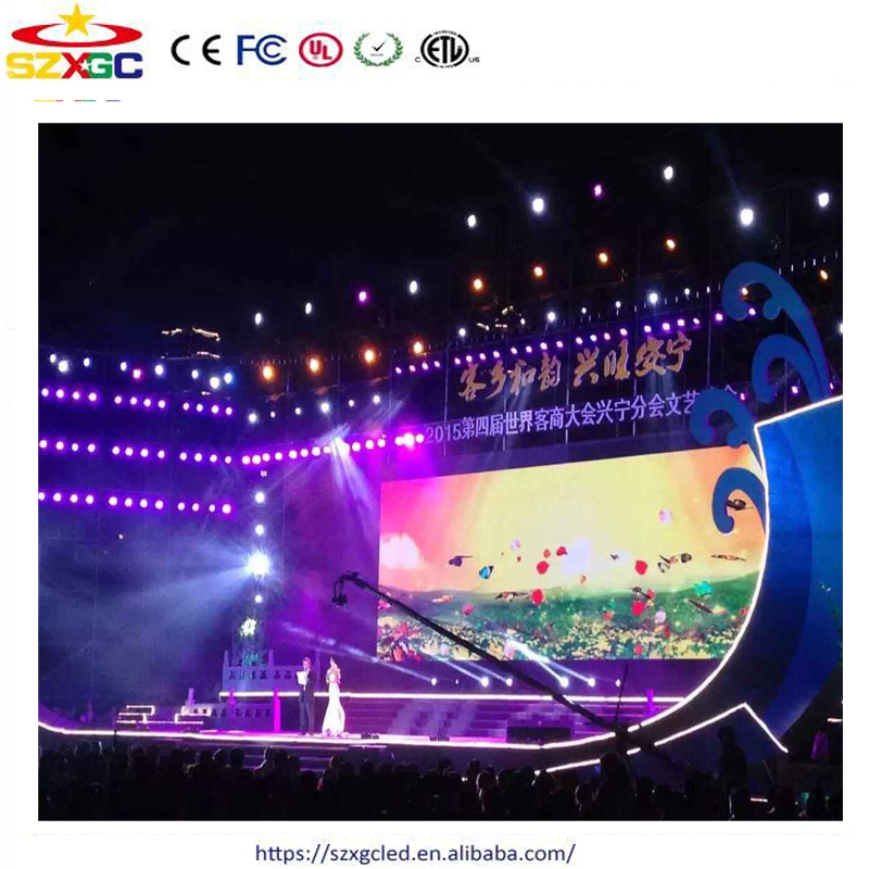 China new innovative product Shenzhen P6 indoor full color stage background led display big screen