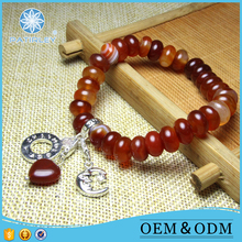 Logo Design carnelian stone jewelry manufacturer china