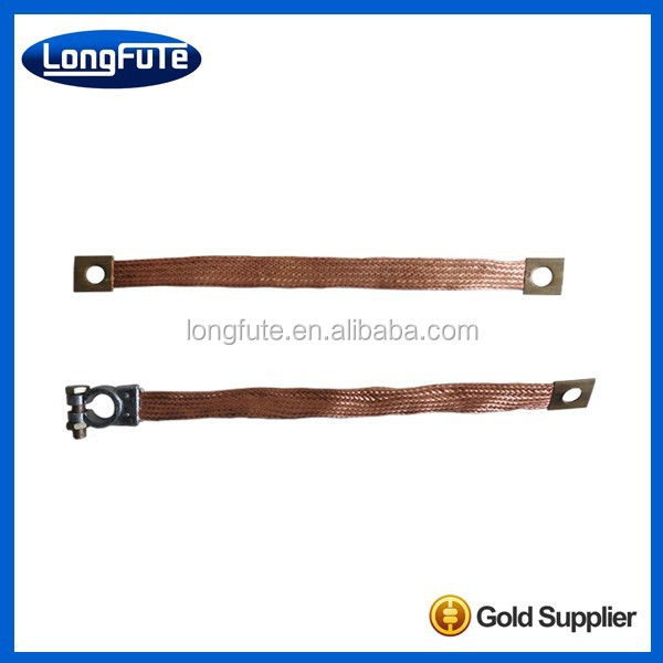 China Auto car / auto battery Flexible braided brass copper jumper cable wire connecting assembly line