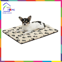Hot sell pawprint thermal microfiber crate dog mat