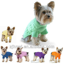 THE wholesale Dog Pet Sweater Coat Clothes, Multi-color Aran Knit, Soft Cozy, Small to Large