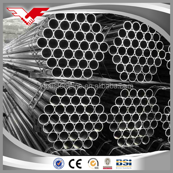 galvanized steel iron pipe /black iron pipe/building iron pipe