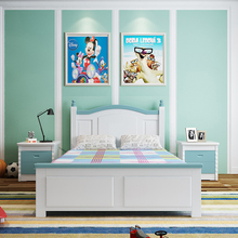 China Manufacture 2017 Simple Style Kids Pine Solid Wood Bed
