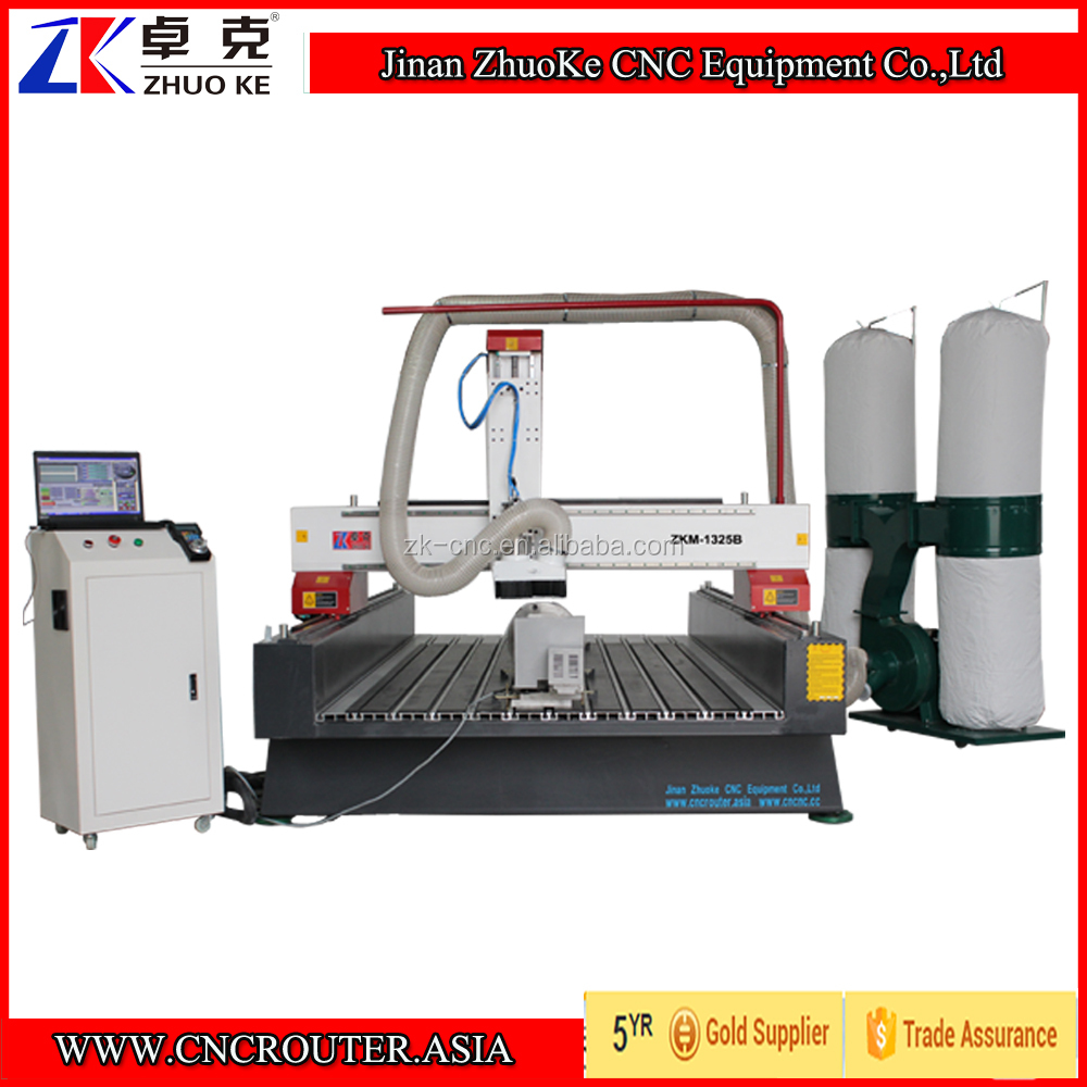 1325 Wood CNC Router Machine, 4X8 Ft CNC Router With Mach3 Control Rotary Axis Dust Collector ZKM-1325B