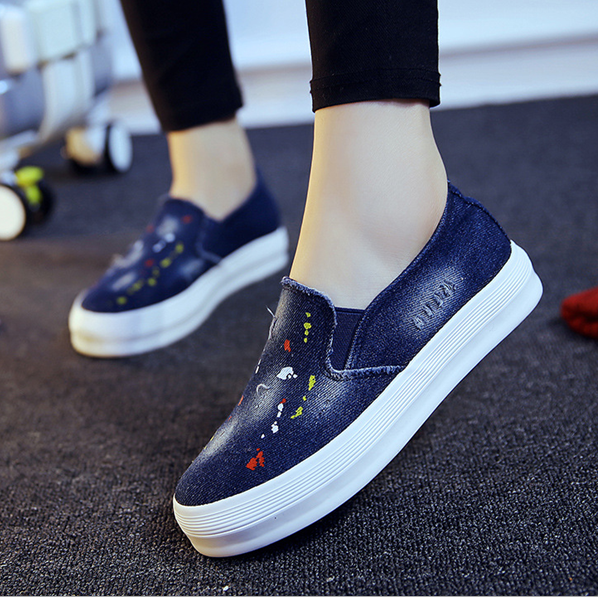 d82519f 2016 wholesale fashion latest canvas footwear shoes women