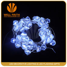 Romantic and pure white pearl LED string lingt for wedding decoration
