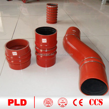 Hot selling 45/90/135/180 degree reducer elbows silicone hose