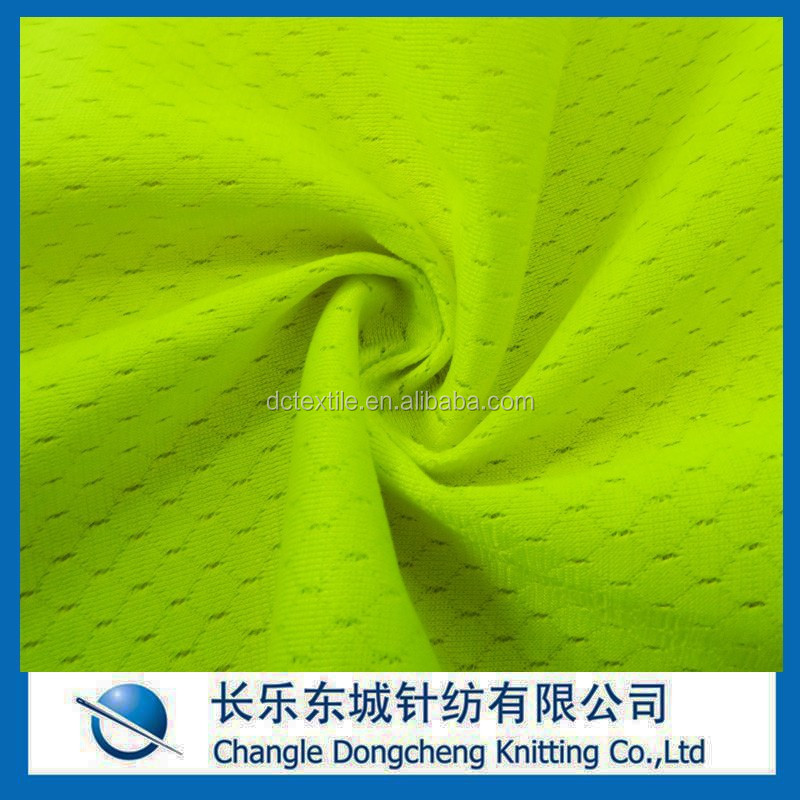 polyester mock mesh fabric with moisture wicking management