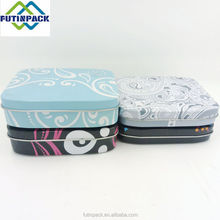 Wholesale Rectangular mini candy tin box/mint tins with hinged lid