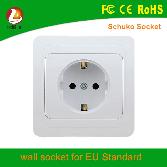Two pin euro surge protector outlet 220v wall socket european for hotel and home use