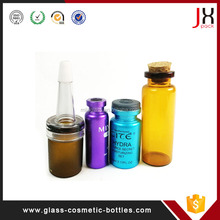 Glass Bottle Cosmetic Packaging Empty Amber Glass Vial With Flip Off Cap Oem&Odm Are Welcome