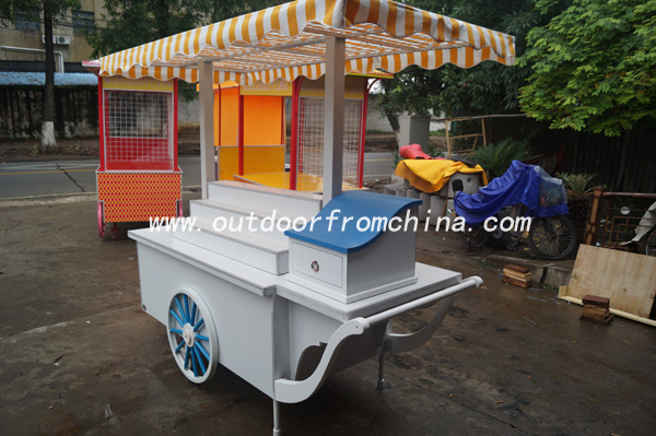 2015 newest Hot selling Outdoor street vending cart/ Vans/ hotdog vending carts/mobile food Vending cart in China