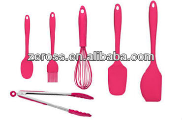 FDA LFGB 6 pieces silicone kitchen utensil sets
