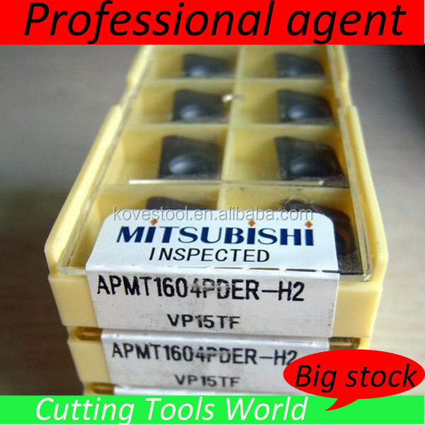 Mitsubishi titanium scrap price carbide indexable insert APMT1604PDER-H2 VP15TF for milling
