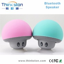 mini wireless mushroom bluetooth speaker with microphone and suction cup