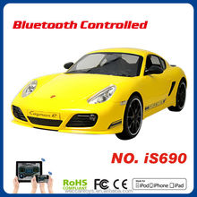 2014 cool iOS Android bluetooth control 1 10 scale rc cars electric porsche cayman yellow car brand car