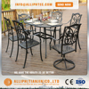 Cast Aluminium Outdoor Furniture 7pcs Table