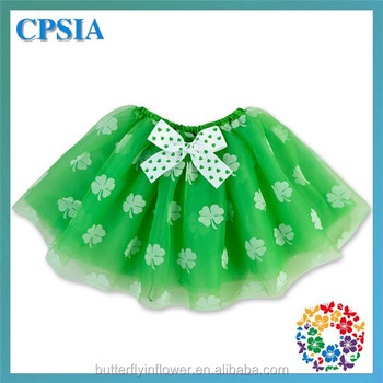 Baby Holiday Green Chiffon Tutu Skirt Birthday Baby Outfit Cute Petti Skirts