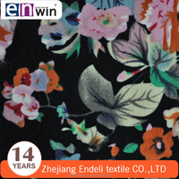 100% cotton knitted single jersey flower digital print fabric