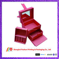 paper jewelry box with insert mirror extra inner layer and extra drawer