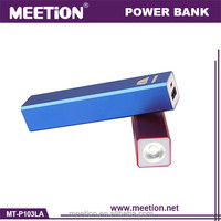 manual remote shutter photo charger power bank/LED torch 2600mah mobile power bank/battery power bank