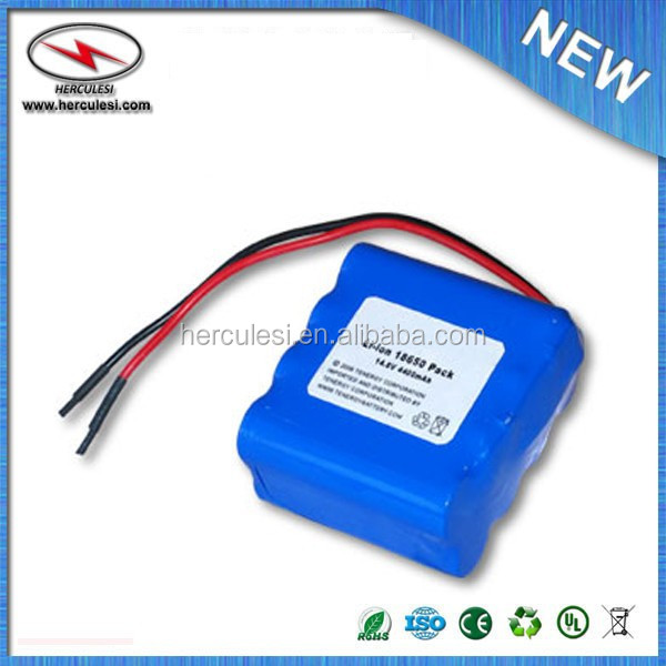 Li-Ion 18650 14.8V 4400mAh PCB Protected Rechargeable Battery Pack w/ Bare Leads