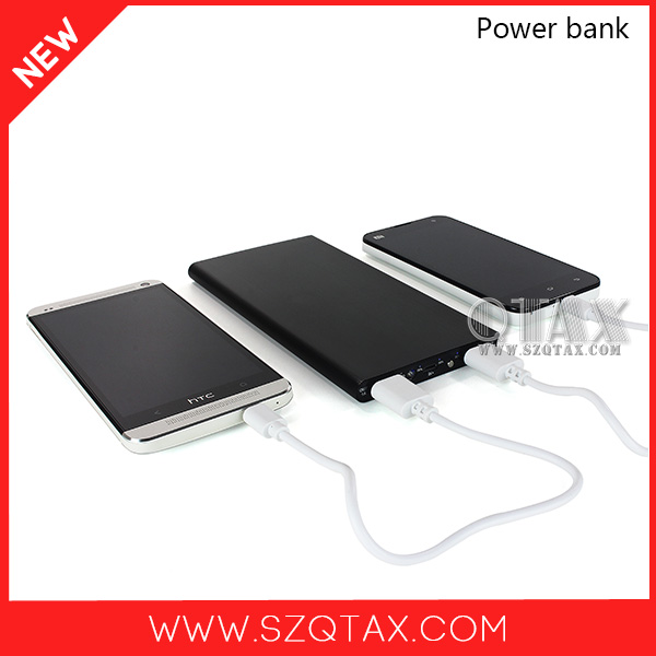 New Technology 2015 Smart aluminum lithium polymer mobile charger 10000mah