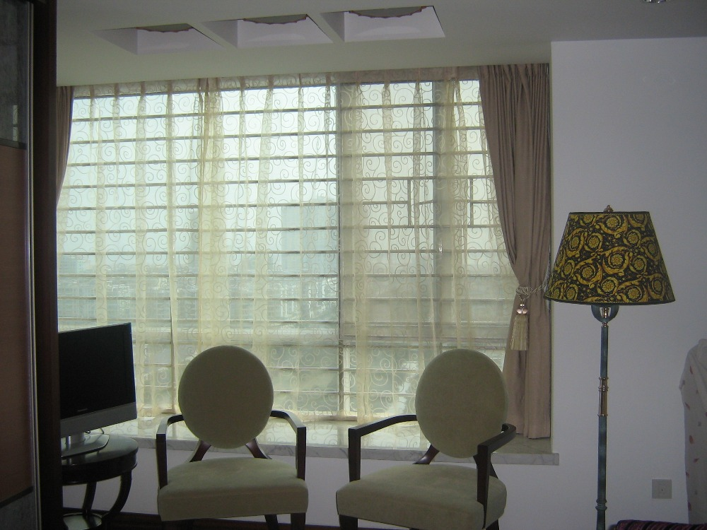 transparent fabric curtain / sheer custom draperies