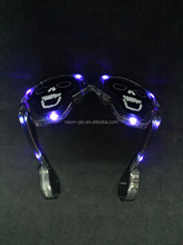 fun party LED halloween skull shaped Goth light up flashing glasses Gothic Halloween party Costume Accessory