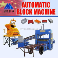 concrete mold plastic/moldes green block/blocks moulds concrete QT5-15Semi-automatic block machine
