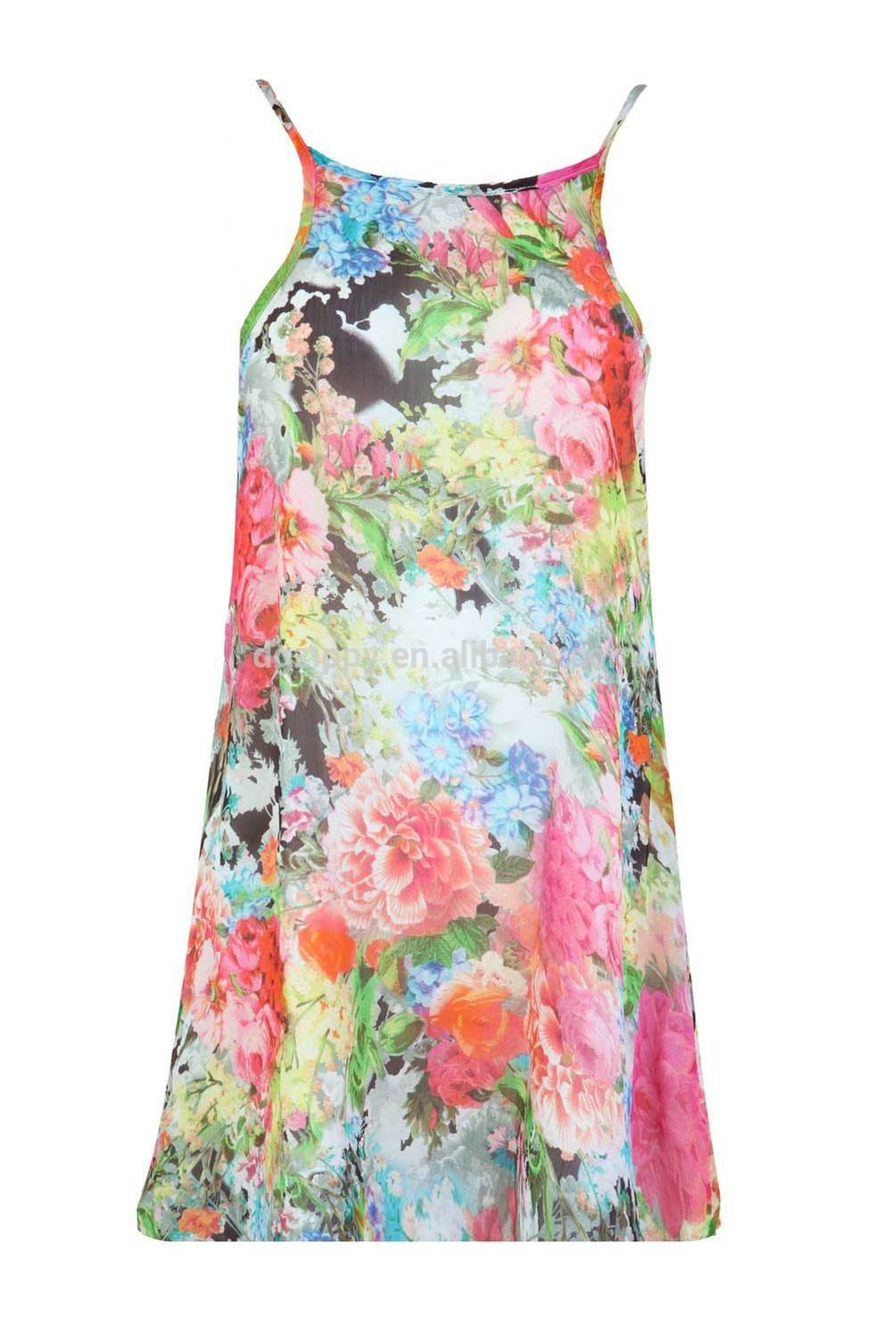 summer dress wholesale dress with floral printing