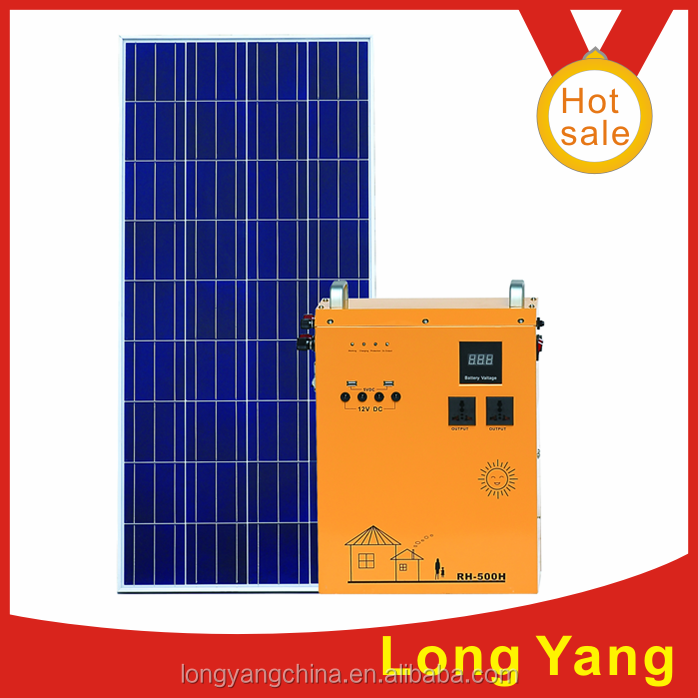 zhongshan longyang 450w solar power generator for home electronics use modified sine wave