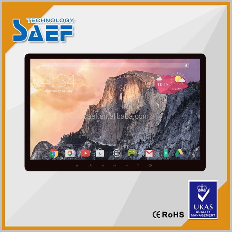 "15.6"" wall mounted capacitive touch screen WIFI 3G Android Network Advertising Display"