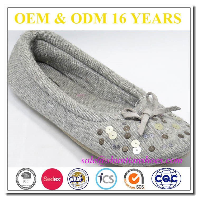 New fashion winter indoor slippers/knitted household slippers warm skid for women