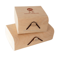 china supply pretty wooden bark gift box with elastic enclosure,wooden birch veneer packaging box