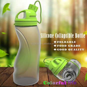 2017 Wholesale BPA free Silicone foldable Water Bottle